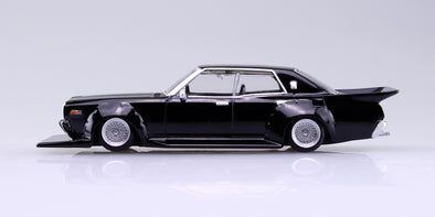 Aoshima 1/64 Grand Champion Collection 10 - Nissan Cedric 1977 (330) Black 330セドリック #2
