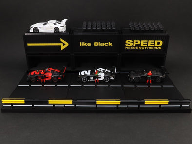 *Mercedes me like Black Special* Tarmac Works Hobby64 Mercedes-AMG GT3 4A Like Black #3 Boxset