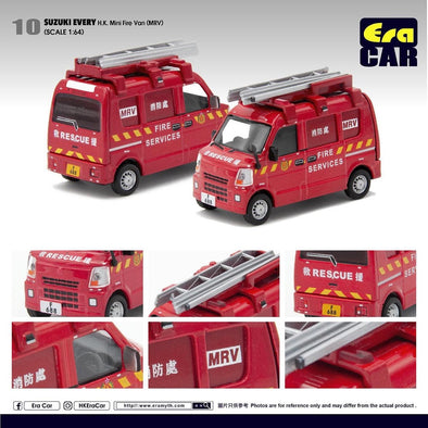 ERA CAR 10 1/64 Suzuki Every HK Mini Fire Van( MRV)