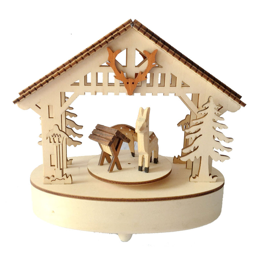 MUSIC BOX WOODLAND SCENE