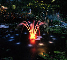 Aerating fountain 1/4 HP 50ft Cord W/LIGHT