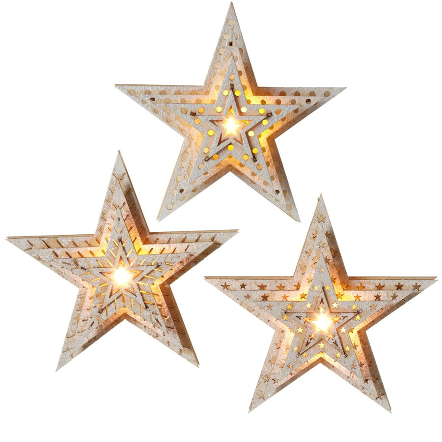 STAR ORNAMENT LIGHTED
