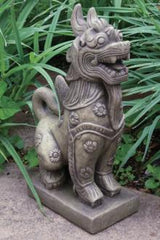 Foo Dog with Floral Accents