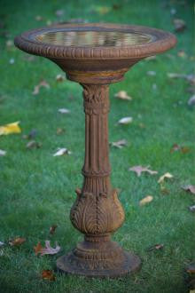 Victorian Fern Leaf Bird Bath