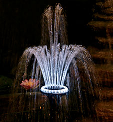 Pond Light-Pondmaster LED 18 Ring With Fountain Head