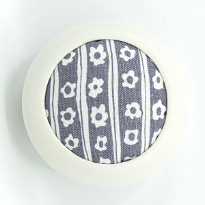 The Quintessential Pincushion in Daisy Stripe, Shale