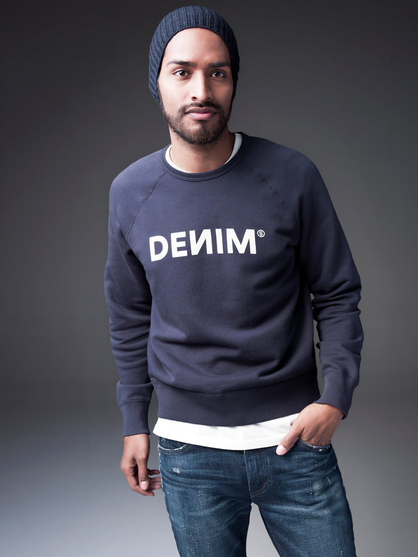 DEИIM Navy College Sweatshirt