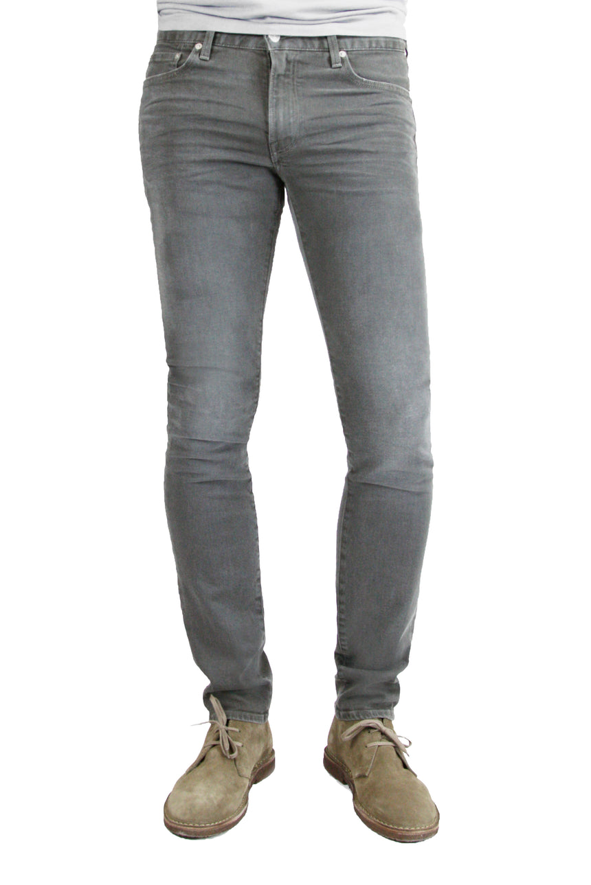 S.M.N Studio's Finn in Ashton Men's Jeans - Tapered slim Comfort Stretch Denim in grey