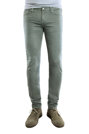S.M.N Studio's Finn in Jaden Men's Jeans - Tapered slim fit jean in a washed sage and made in a comfort stretch premium Japanese denim
