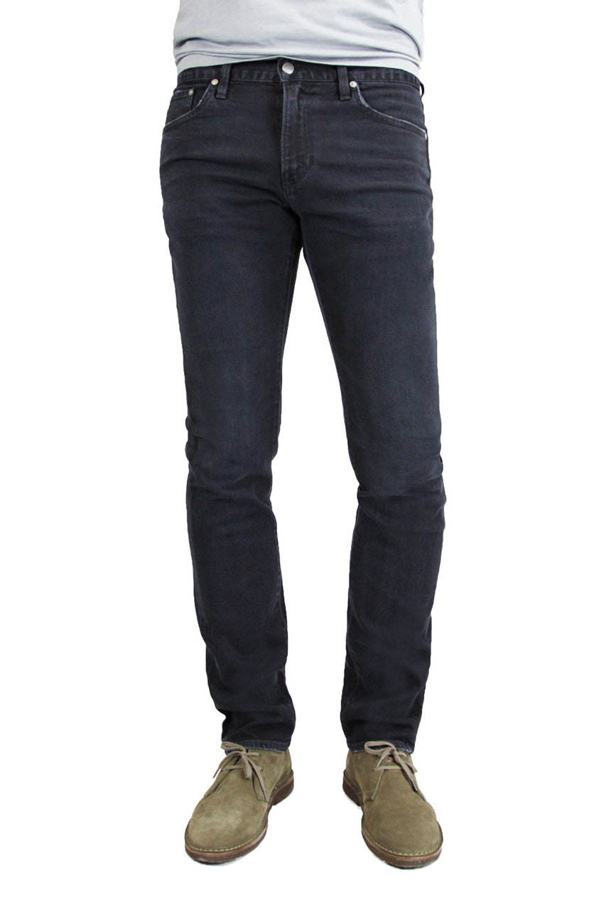 S.M.N Studio's Hunter in Apache Men's Jeans - Slim fit comfort stretch denim in deep charcoal color