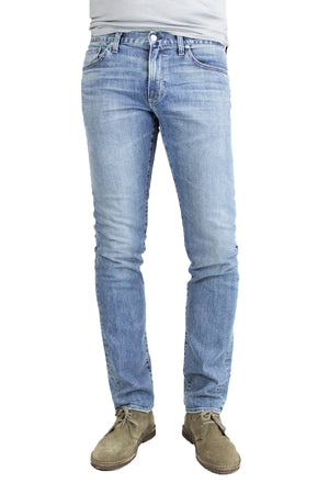 S.M.N Studio's Hunter in Costello Men's Jeans - Slim fit light blue wash jean in comfort stretch denim