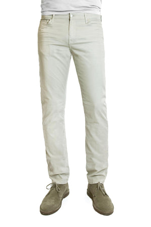 S.M.N Studio's Hunter in Stone Men's Twill Jeans - Slim comfort stretch twill pants in a light tan color with grey tones