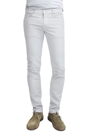 S.M.N Studio's Finn in Light Gray Men's Jeans. A tapered slim stretch comfort twill pant in a light grey color