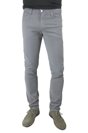 S.M.N Studio's Hunter in Moonstone Men's Twill Jeans - Slim comfort stretch twill pants in a grey color