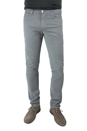 S.M.N Studio's Hunter in Boulder Men's Twill Pants - Slim light grey comfort stretch twill pants