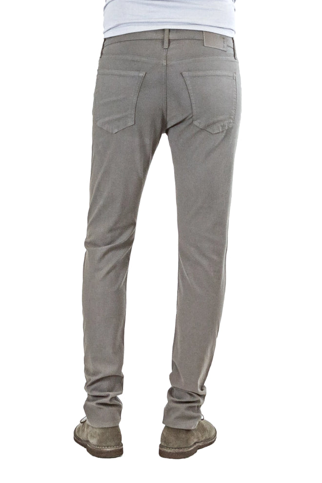 S.M.N Studio's Hunter in Taupe Men's Twill Pants - A slim fit comfort stretch twill pant in a darker taupe color