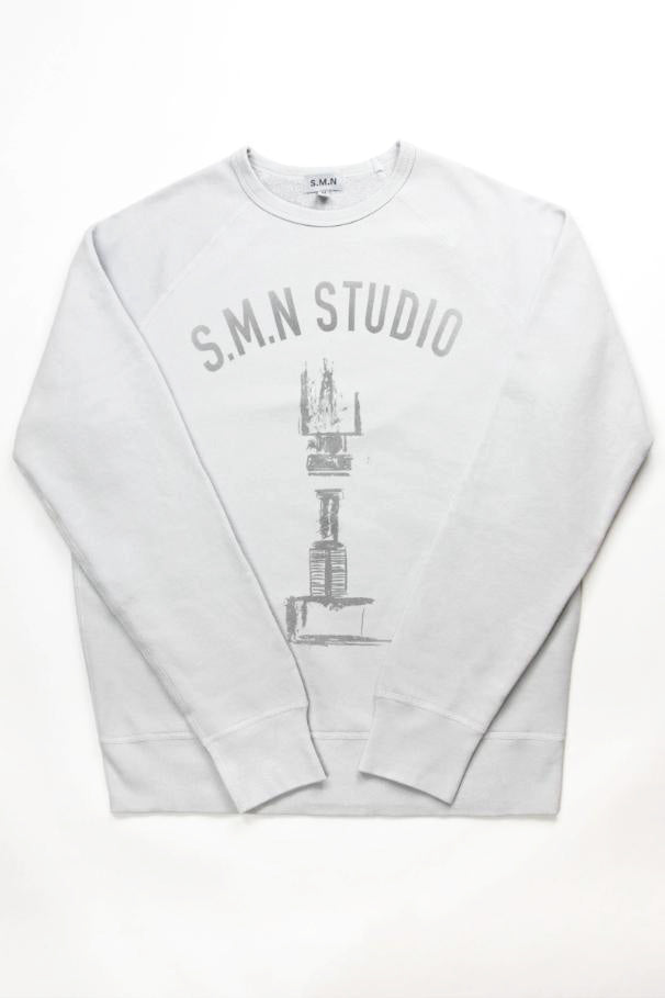 Vintage Rivet Light Grey College Sweatshirt