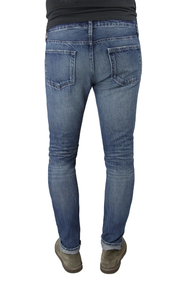 Back of S.M.N Studio's Hunter in Anderson Men's Jeans - Slim Comfort Stretch Den