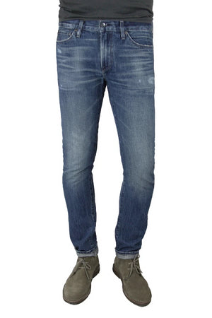 S.M.N Studio's Hunter in Anderson Men's Jeans - Slim Comfort Stretch Denim in vintage wash denim