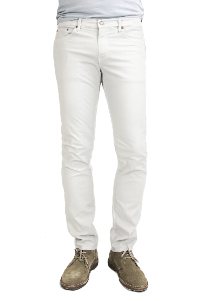 S.M.N Studio's Hunter in White Men's Jeans - A slim fit white jean in a comfort stretch denim
