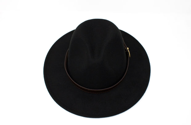 Fedora Hats - Black - Cotton