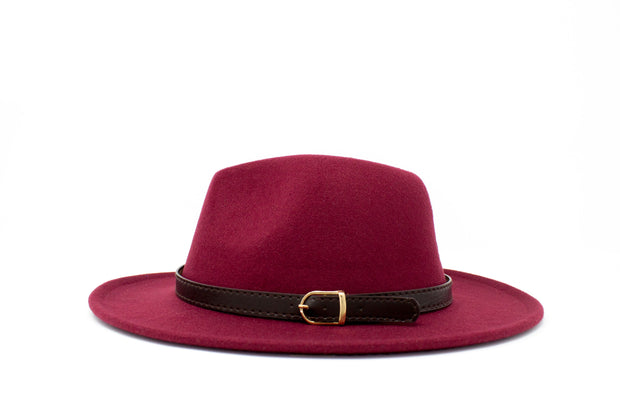 Fedora Hats -  Burgundy - Cotton