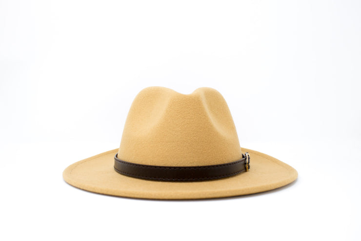 Fedora Hats - Camel - Cotton