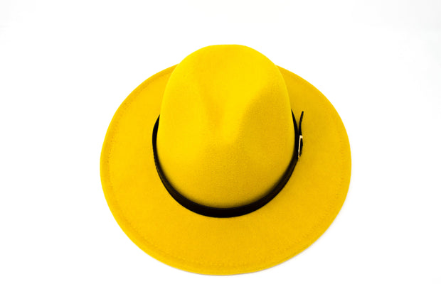 Fedora Hats -  Mustard - Cotton