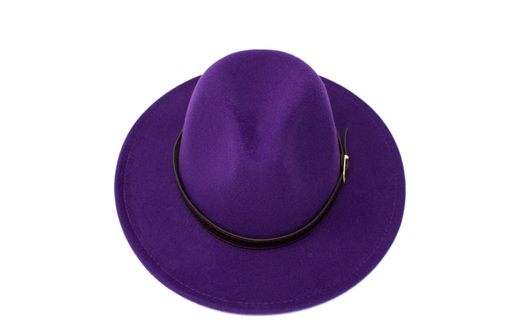 Fedora Hats -  Purple - Cotton