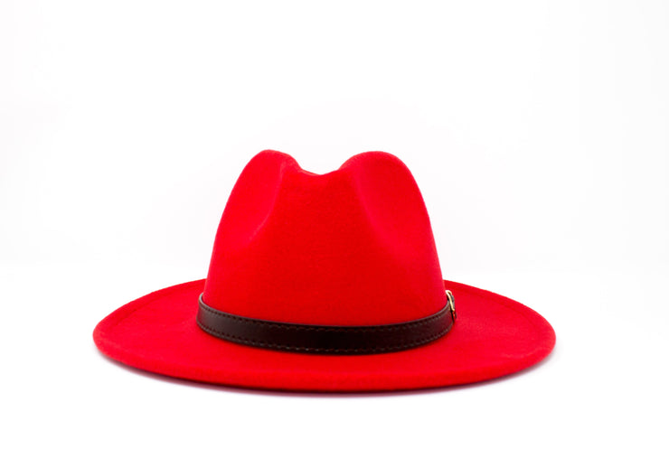 Fedora Hats -  Red - Cotton
