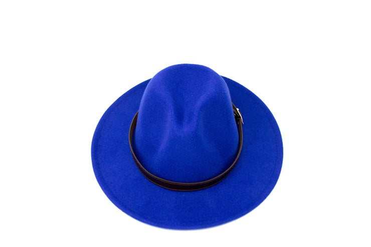 Fedora Hats - Blue - Cotton