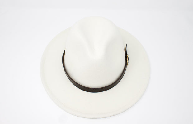 Fedora Hats - White - Cotton