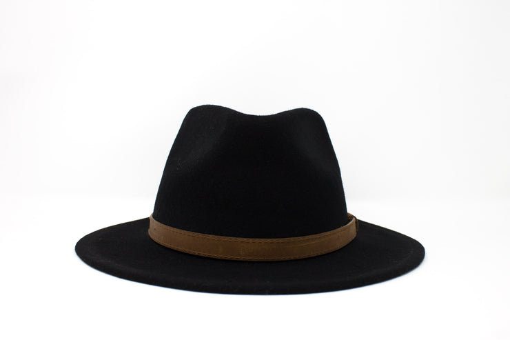 Fedora Hats - Black - Wool Felt