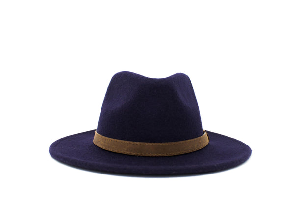 Fedora Hats - Dark Blue - Wool Felt