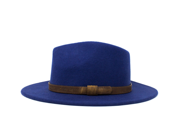 Fedora Hats - Navy Blue - Wool Felt