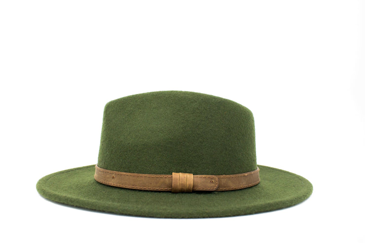 Fedora Hats - Olive Green - Wool Felt