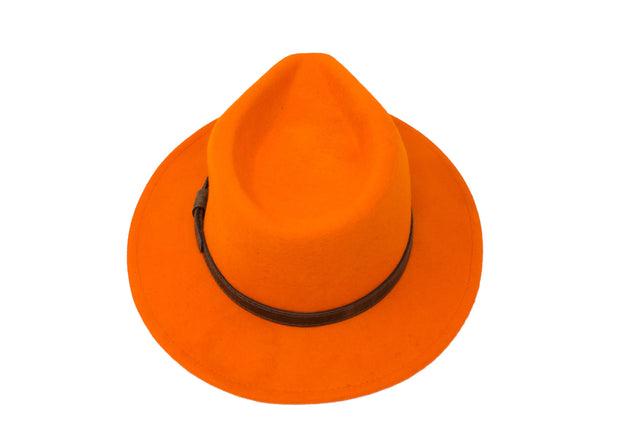 Fedora Hats - Orange - Wool Felt
