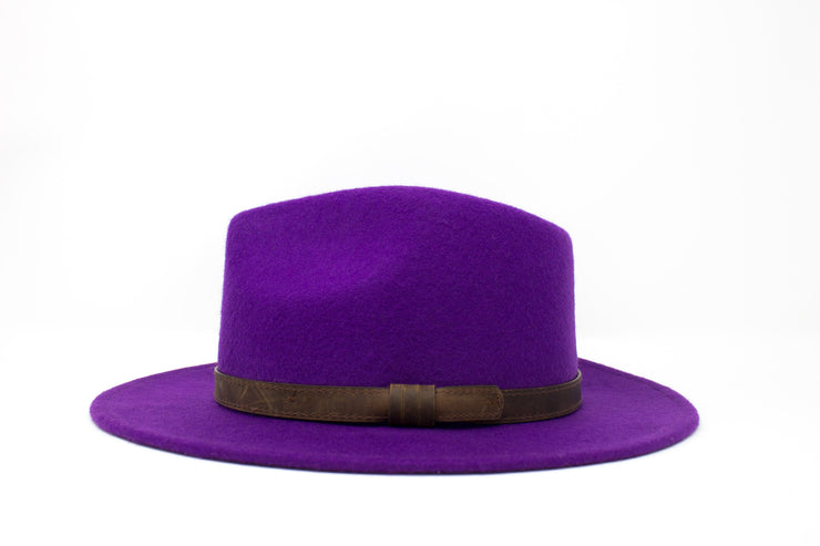 Fedora Hats - Purple - Wool Felt