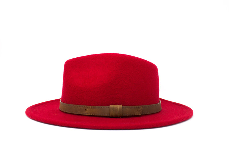 Fedora Hats - Red - Wool Felt