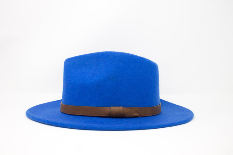 Fedora Hats - Royal Blue - Wool Felt