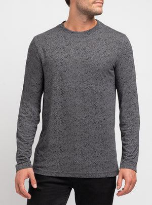 Pull col montant chamoiré gris