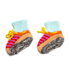 Candy Hand Knit Booties