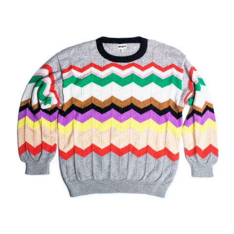DING DONG ZIG ZAG SWEATER SWEATER