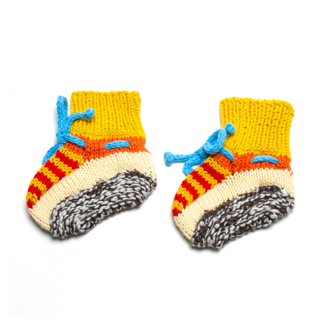 Primary Hand Knit Booties
