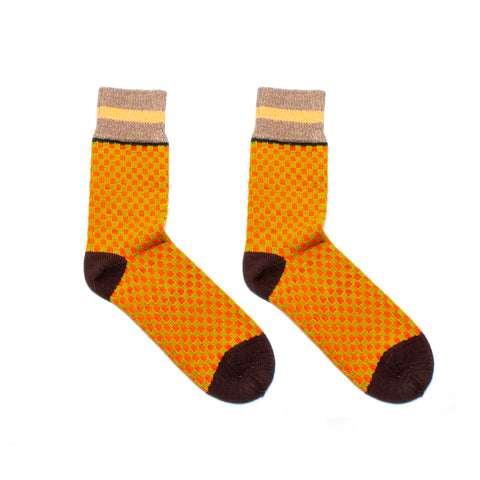 Pumpkin Check Socks