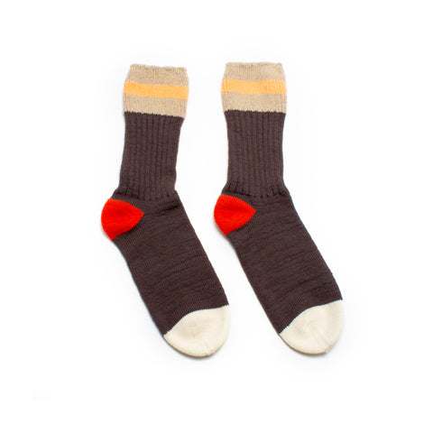 PREORDER Dark Striped Rib Socks