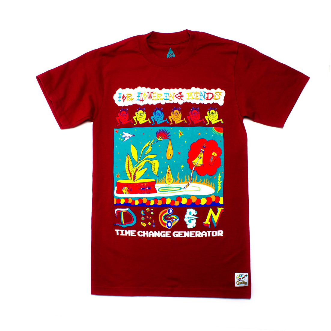 DEGEN x Time Change Generator Flowering Minds Tee
