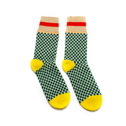 PRE ORDER Ocean Glass Check Socks
