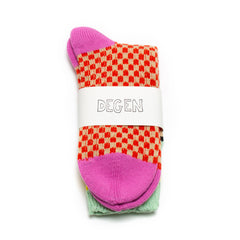 Candy Check Socks