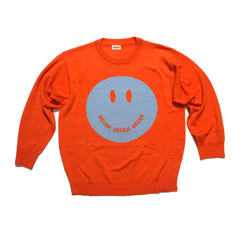 Smile Sweater Psycho-Orange Colorway